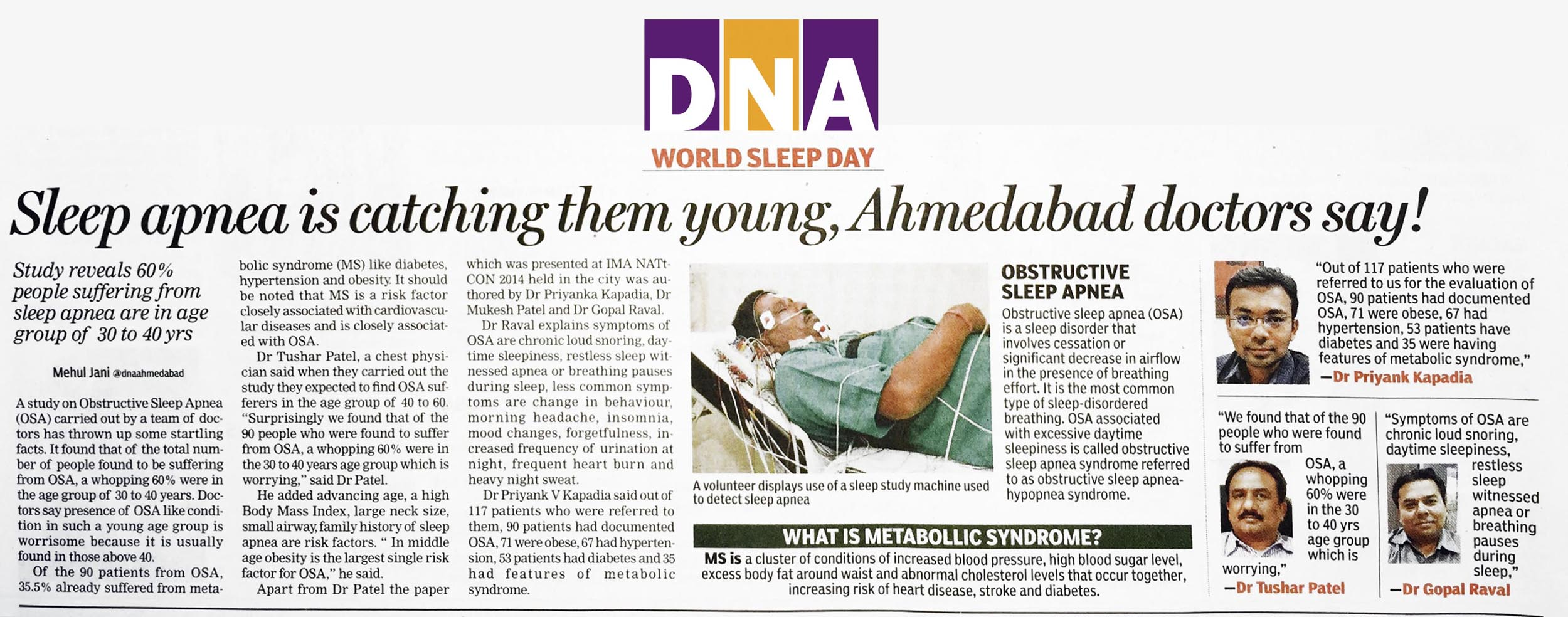 press world sleep dayDNA News Papr